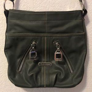 Tyler Rodan Green Crossbody Purse Multi Pocket